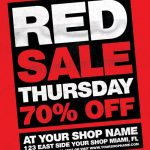 Red Thursday – Free PSD Flyer