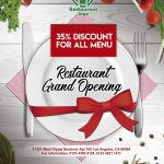 Restaurant Opening – Free PSD Flyer