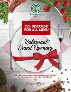 Restaurant Opening Free PSD Flyer Template