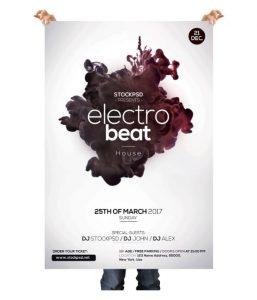 Electro Beat – Free PSD Flyer