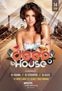 Deep House – Free PSD Flyer