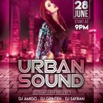 Urban Sound Party - Free PSD Flyer Template