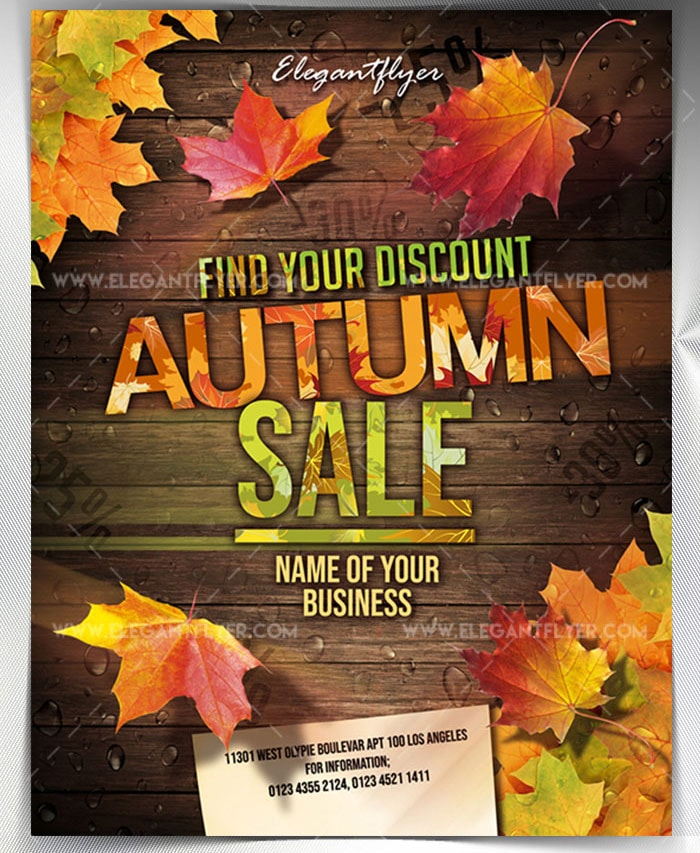 autumn sale free psd flyer stockpsd