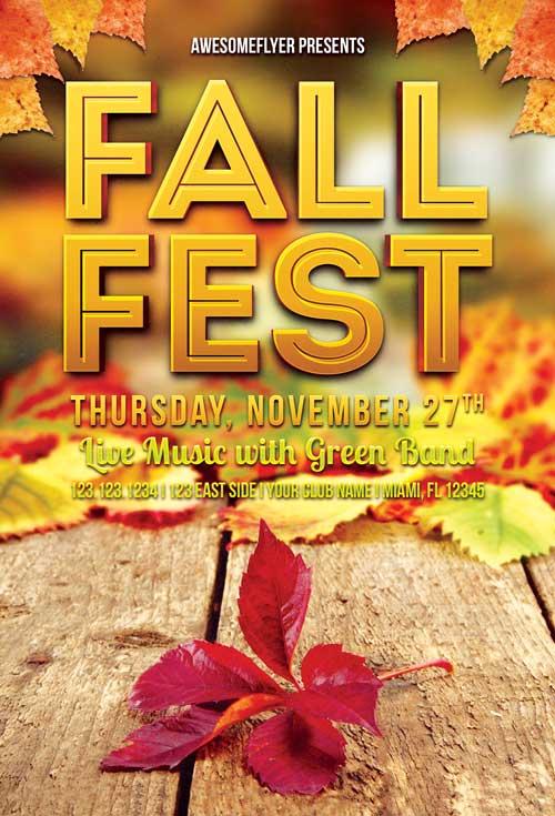 Fall Fest – Free PSD Flyer