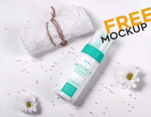 Cosmetic Spray Bottle – Free PSD Mockup