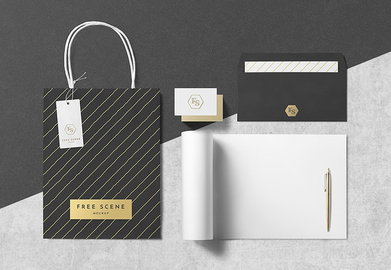 Psd Stationery Download Free Mockup Scene Free Psd Flyer