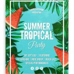 Tropical Summer Party - Free PSD Flyer Template