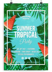 Tropical Summer Party – Free PSD Flyer Template