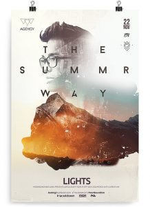 Summer Way – Download Free PSD Flyer Template