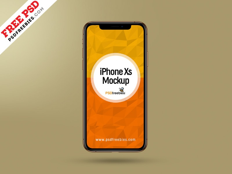 Apple iPhone Xs Free PSD Mockup Template