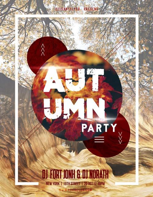 Autumn Party – Free PSD Flyer