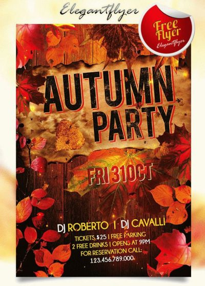 Autumn Party #2 Free PSD Flyer