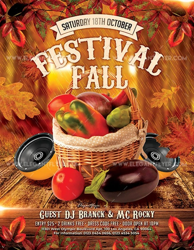 Fall Festivals – Free PSD Flyer Template