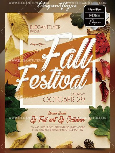 Free Fall Festival Free PSD Flyer