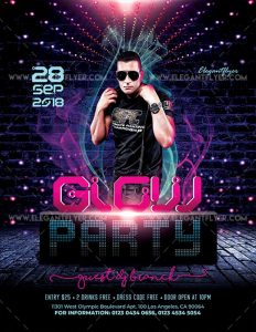 Glow Party – Free PSD Flyer