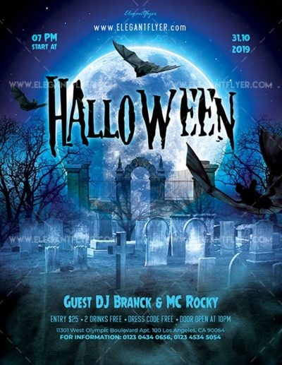 Halloween Free PSD Flyer