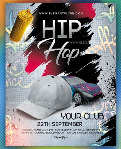 Hip Hop Free PSD Flyer Template