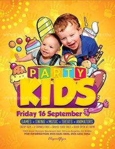 Kids Party – Free PSD Flyer
