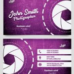 Photographer Card – Free PSD Template
