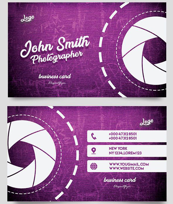 Photographer Card Free PSD Flyer