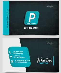 Photo Studio Business Card – Free PSD Template