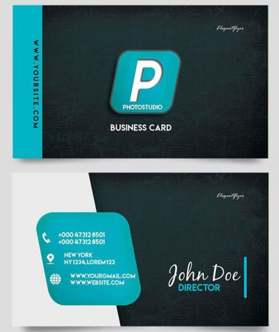 Photo Studio Card Free PSD Template