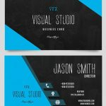Visual Business Card - Free PSD Template