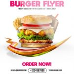 Burger Flyer - Free PSD Flyer Template