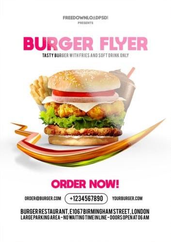 Burger Flyer Free PSD Flyer Template