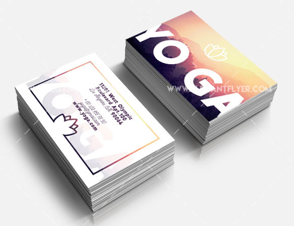 Yoga Business Card Free PSD Template