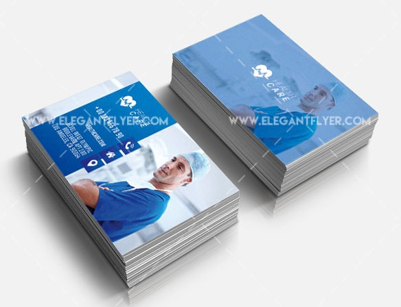 Health Care Card Free PSD Template