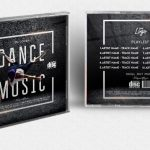 Dance Music CD Free PSD Template