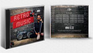 Retro CD Cover – Free PSD Template
