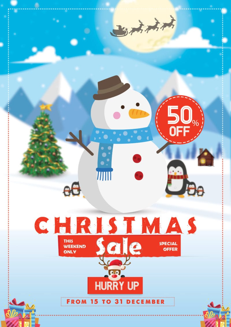 Christmas Sale Free PSD Flyer