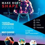 Fitness Gym Free PSD Flyer