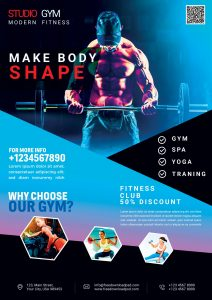 Fitness Gym – Free PSD Flyer