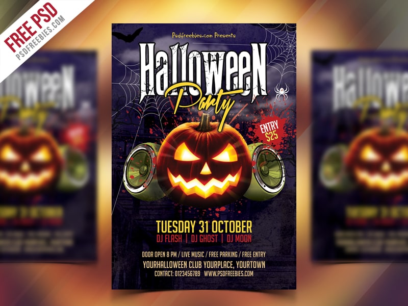 Halloween Party #5 Free PSD Flyer