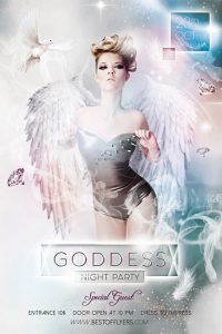 Goddess Night – Free PSD Flyer
