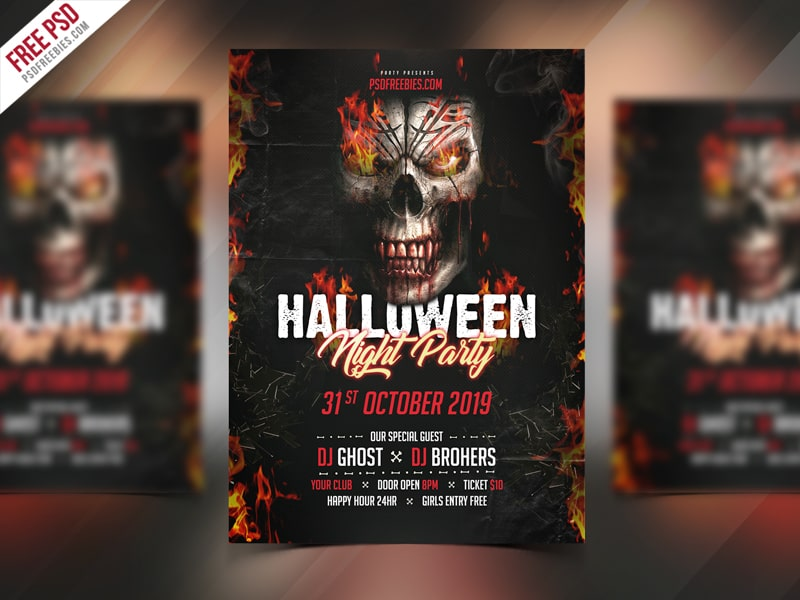 Halloween Night Free PSD Flyer Template