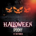 Halloween Spooky Free PSD Flyer
