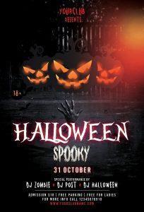 Halloween Spooky – Free PSD Flyer