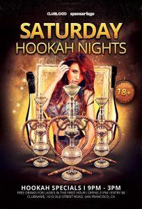Hookah Nights – Free PSD Flyer