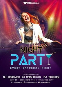 Night Party – Free PSD Flyer Template