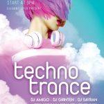 Techno Trance - Free PSD Flyer