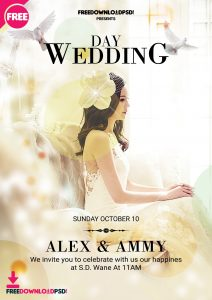 Wedding Day – Free PSD Flyer Template