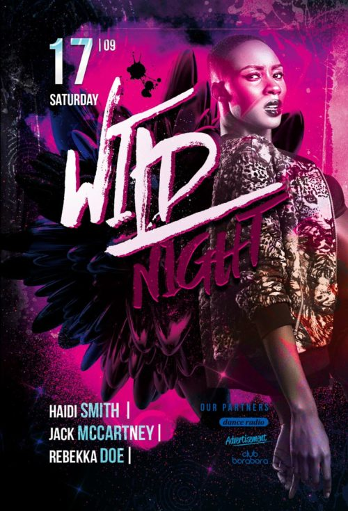 Wild Night – Free PSD Flyer