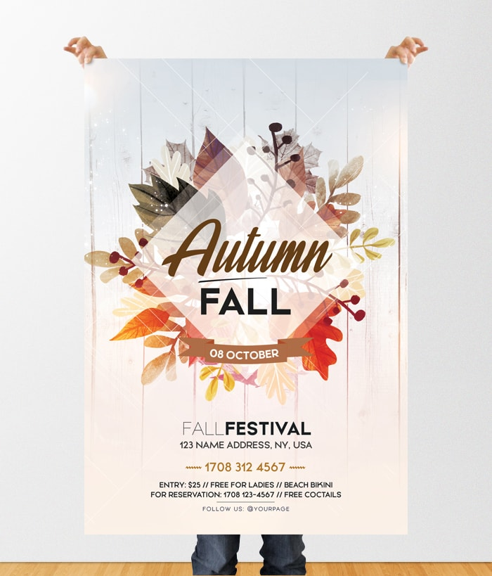 Fall Festival Free PSD Flyer