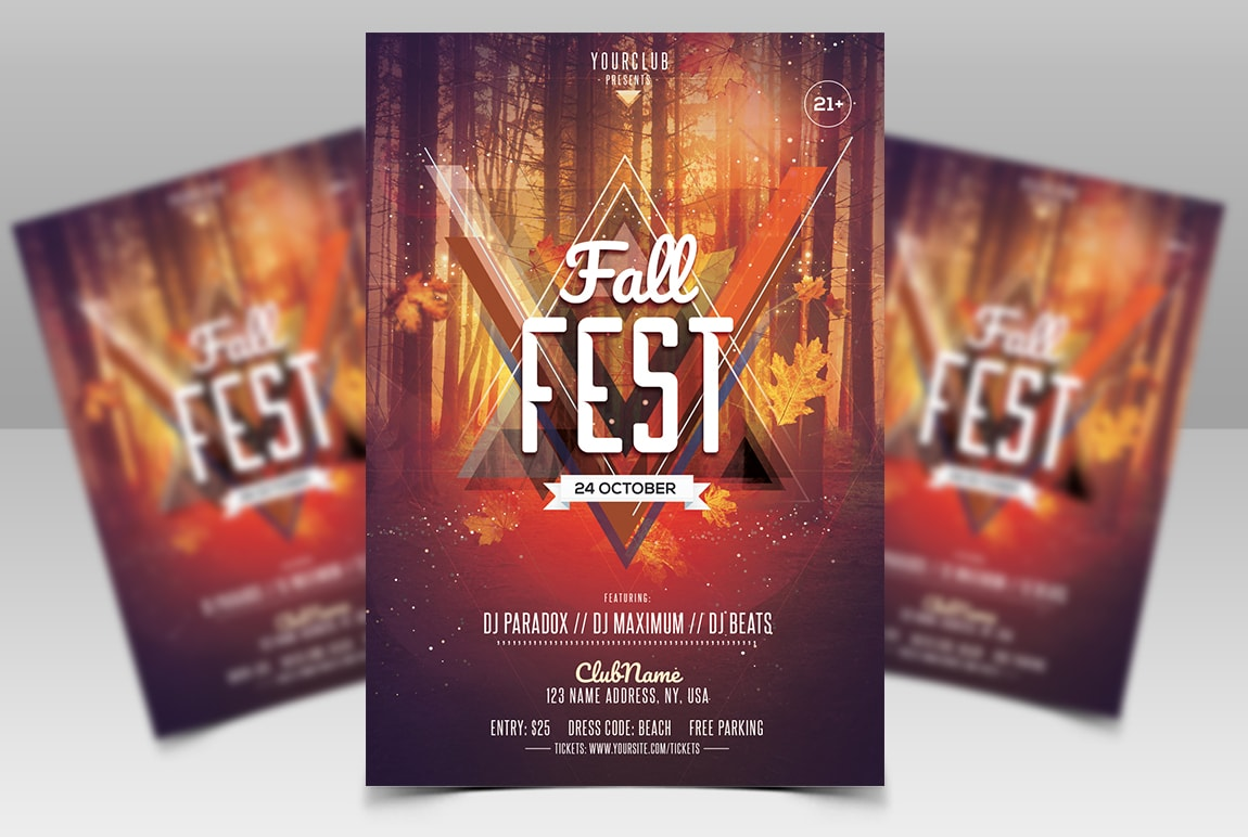 Fall Fest #2 Free PSD Flyer