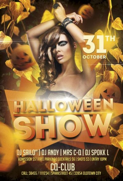 Halloween Show Free PSD Flyer Template