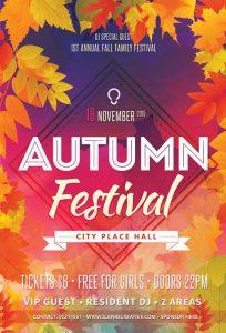 Autumn Celebration – Free PSD Flyer